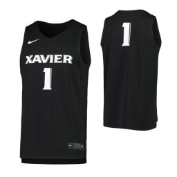 Women's Xavier Musketeers #1 Authentic College Basketball Jersey Black