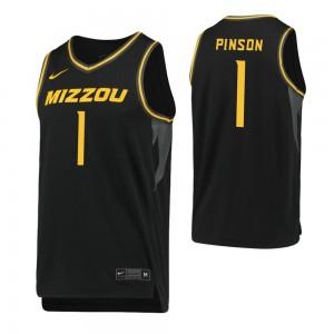 Youth Xavier Pinson Replica College Basketball Jersey Black Missouri Tigers