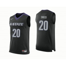 Kansas State Wildcats #20 Xavier Sneed Authentic College Basketball Jersey Black