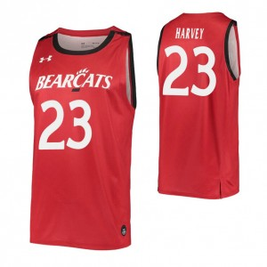 Zach Harvey Replica College Basketball Jersey Red Cincinnati Bearcats