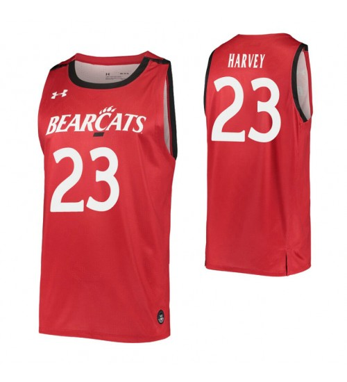 Youth Zach Harvey Authentic College Basketball Jersey Red Cincinnati Bearcats