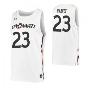 Zach Harvey Replica College Basketball Jersey White Cincinnati Bearcats