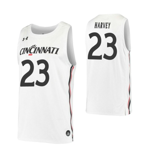 Youth Zach Harvey Replica College Basketball Jersey White Cincinnati Bearcats