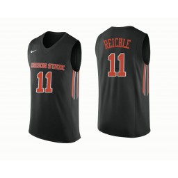 Women's Oregon State Beavers #11 Zach Reichle Authentic College Basketball Jersey Black